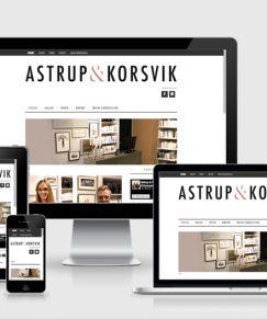 Astrup &Korsvik website og logo